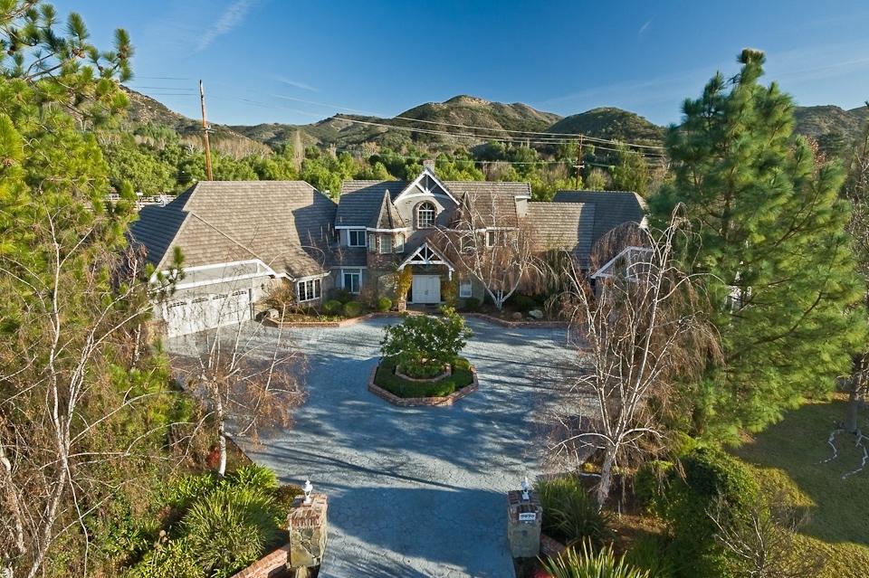 Agoura Hills Estate Aerial
